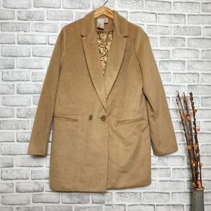 Forever 21 Tan Winter/Fall Thigh Length Jacket LG